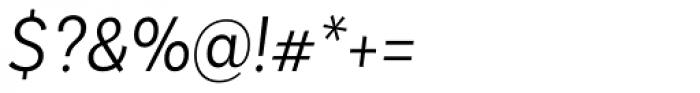 Basic Sans Alt Narrow Light It Font OTHER CHARS