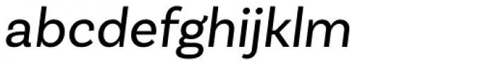 Basic Sans Alt Regular Italic Font LOWERCASE