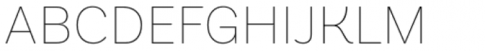Basic Sans Alt Thin Font UPPERCASE