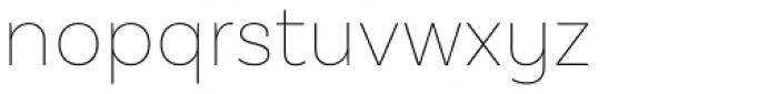 Basic Sans Alt Thin Font LOWERCASE