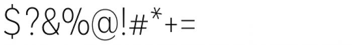 Basic Sans Cnd Extra Light Font OTHER CHARS
