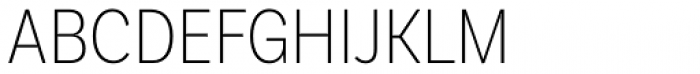 Basic Sans Cnd Extra Light Font UPPERCASE