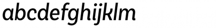 Basic Sans Cnd Regular It Font LOWERCASE
