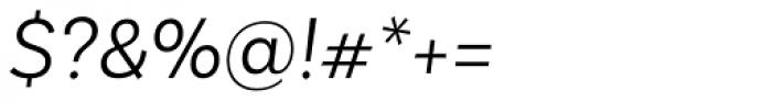 Basic Sans Light Italic Font OTHER CHARS