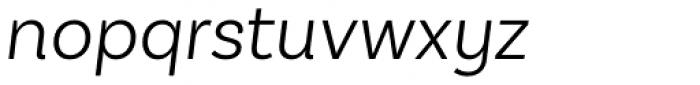 Basic Sans Light Italic Font LOWERCASE