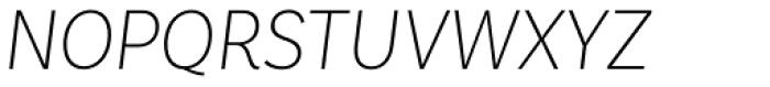 Basic Sans Narrow Extra Light It Font UPPERCASE