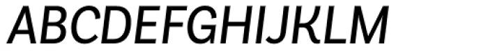 Basic Sans Narrow Regular It Font UPPERCASE