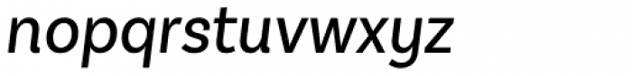 Basic Sans Narrow Regular It Font LOWERCASE