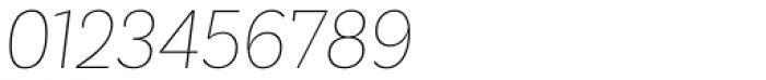 Basic Sans Narrow Thin It Font OTHER CHARS