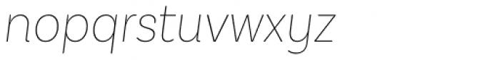 Basic Sans Narrow Thin It Font LOWERCASE