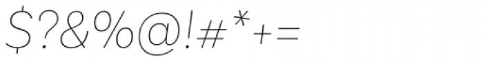 Basic Sans Thin Italic Font OTHER CHARS