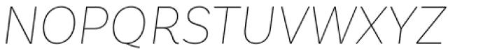 Basic Sans Thin Italic Font UPPERCASE