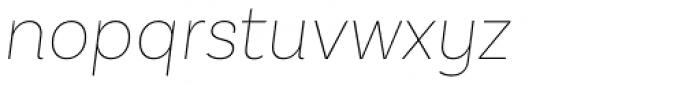 Basic Sans Thin Italic Font LOWERCASE