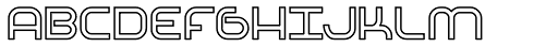 Basix Heavy Outline Font UPPERCASE