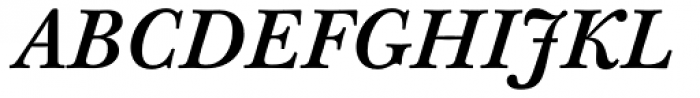 Baskerville 10 Pro Medium Italic Font UPPERCASE