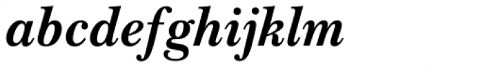 Baskerville Bold Italic Font LOWERCASE