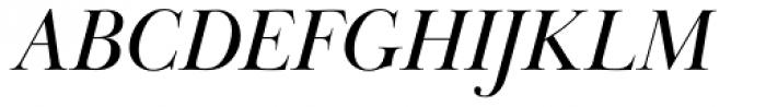 Baskerville Display PT Italic Font UPPERCASE