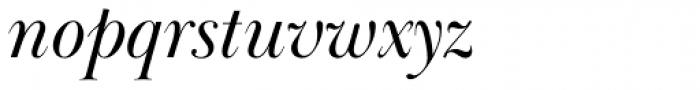 Baskerville Display PT Italic Font LOWERCASE