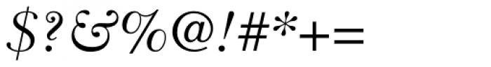 Baskerville Greek Inclined Font OTHER CHARS