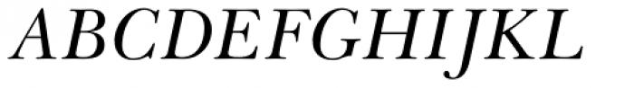 Baskerville Greek Inclined Font UPPERCASE