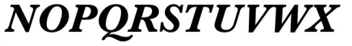 Baskerville No 2 Bold Italic Font UPPERCASE