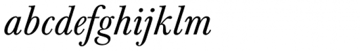Baskerville Nr 1 SB Italic Font LOWERCASE