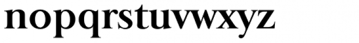 Baskerville Old Serial Bold Font LOWERCASE