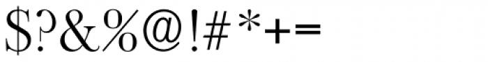 Baskerville Old Serial Light Font OTHER CHARS