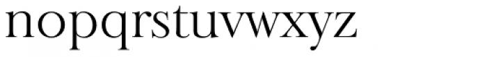 Baskerville Old Serial Light Font LOWERCASE
