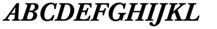 Baskerville Pro Medium Italic Font UPPERCASE