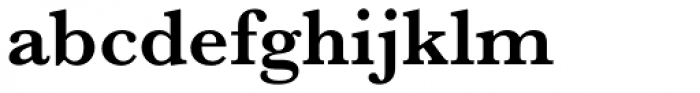 Baskerville Pro SemiBold Font LOWERCASE
