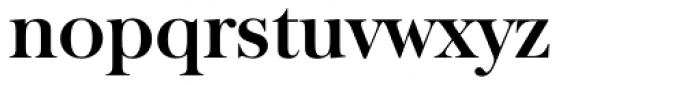 Baskerville TS DemiBold Font LOWERCASE