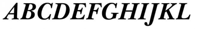 Baskerville WGL4 Bold Italic Font UPPERCASE