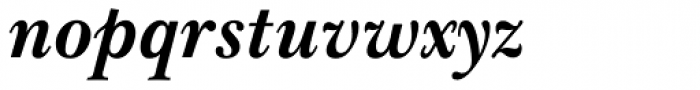 Baskerville WGL4 Bold Italic Font LOWERCASE