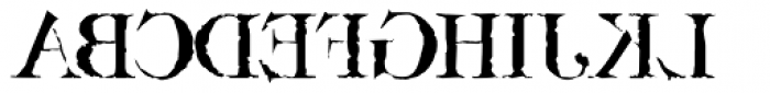Bassackwards Font UPPERCASE
