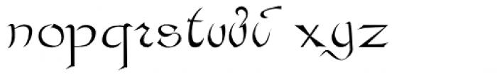 Bastarda Font LOWERCASE