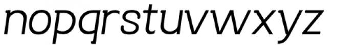 Bastonello Light Oblique Font LOWERCASE