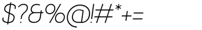 Bastonello Ultra Light Italic Font OTHER CHARS
