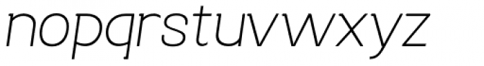 Bastonello Ultra Light Italic Font LOWERCASE