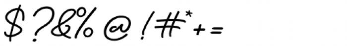 Bathilda Regular Font OTHER CHARS