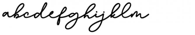 Bathilda Regular Font LOWERCASE