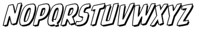 Battle Cry Open Italic Font LOWERCASE