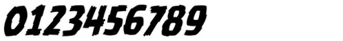 Battle Damaged Italic Font OTHER CHARS