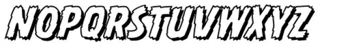 Battle Damaged Open Italic Font LOWERCASE