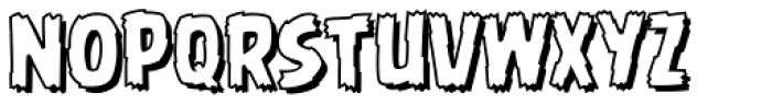 Battle Damaged Open Font LOWERCASE