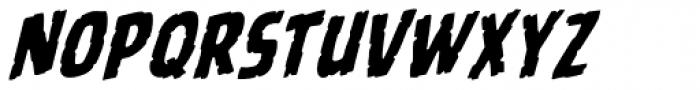Battle Scarred Italic Font LOWERCASE