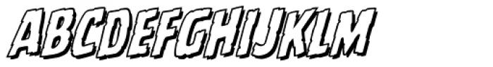 Battle Scarred Open Italic Font LOWERCASE