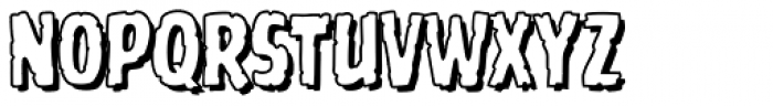 Battle Scarred Open Font UPPERCASE