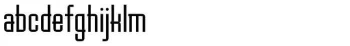 Baucher Gothic URW Medium Extended Alternates Font LOWERCASE