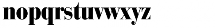 Bauer Bodoni Black Cond Font LOWERCASE